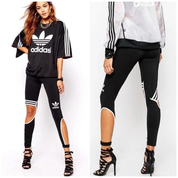 3cb816dd4a15a3 adidas Pants | Rita Ora Cutout Trapeze Leggings | Poshmark